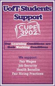 StudentsforCUPE poster